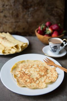 Coconut Crepes Recipe #glutenfree #dairyfree   FoodforMyFamily.com #FairMoms