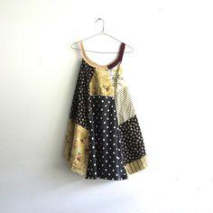 romantic Upcycled clothing / Patchwork Denim Dress / by CreoleSha