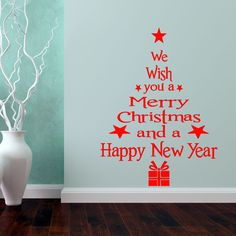 Find More Wall Stickers Information about 1pc Christmas Blessings Waterproof  Wall Sticker Xmas Tree Style Livingroom Window Glass Removable Decorative Sticker 1976WS,High Quality glass berry,China glass lotus Suppliers, Cheap glass hose from NAAN GUO Store on Aliexpress.com