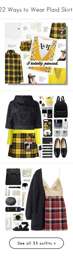 """""""22 Ways to Wear Plaid Skirts"""" by polyvore-editorial ❤ liked on Polyvore featuring plaidskirts, Lowie, Miu Miu, H&M, Gianvito Rossi, N°21, tweed, tartan, clueles and Delpozo"""