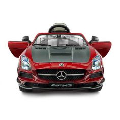 2018 Mercedes SLS AMG 12V Battery Powered Motorized Ride on Toy Car with Built in LCD TV, LED Lights, Leather Seat