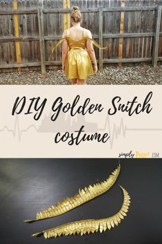 DIY Harry Potter costume- golden snitch