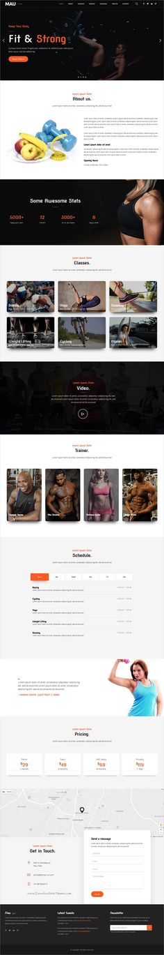 Mau is a powerful multipurpose 11in1 responsive HTML #bootstrap template for #gym and #fitness studios awesome websites download now➩ https://wrapbootstrap.com/theme/mau-multipurpose-html-templates-WB00H2875?ref=datasata