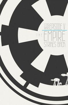 The Empire Strikes Back (Minimalist style) | By: stuckart via deviantART | #starwars #starwarsfanart #starwarsfanposter #starwarsminimalistposter #empirestrikesback