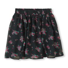 double layer floral skirt