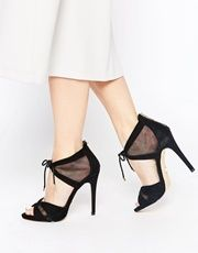 Lipsy Emma Black 2 Part Sandals