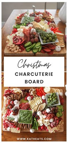 Charcuterie Recipes, Charcuterie Platter, Charcuterie And Cheese Board, Cheese Boards, Christmas Party Appetizers, Christmas Party Food, Christmas Desserts, Christmas Dinner Sides, Christmas Breakfast