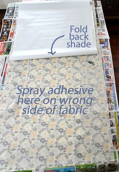 how to make your own fabric shades...