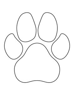 Dog Paw Print Pattern Use The Printable Outline For Crafts Creating Stencils Sbooking