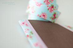 Cuaderno forrado con tela adhesiva by papelidades, via Flickr