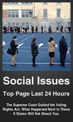 Top Social Issues link on telezkope.com. With a score of 3778. --- The Supreme Court Gutted the Voting Rights Act. What Happened Next in These 8 States Will Not Shock You.. --- #socialissues --- Brought to you by telezkope.com - socially ranked goodness