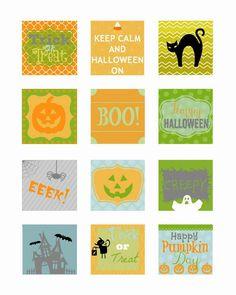 Free Printable - Halloween Cupcake Toppers