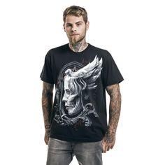 Spiral T-Shirt Grim Rider da uomo in nero