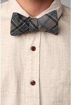 Wool + Plaid + Bowtie = Dapper