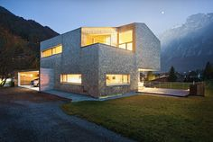 Haller Jürgen together with Peter Plattner designed the House Haller in Mellau, Austria. The entire design of this compact house conforms to the location a Amazing Architecture, Modern Architecture, Compact House, My Dream Home, Great Places, Interior And Exterior, Interior Design, Beautiful Homes, Home Improvement