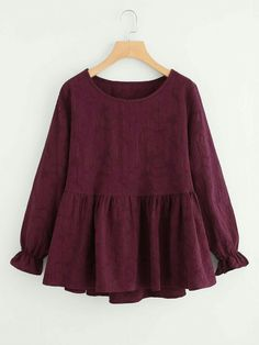 SheIn offers Ruffle Trim Peplum Blouse & more to fit your fashionable needs. SheIn offers Ruffle Trim Peplum Blouse & more to fit your fashionable needs. Teen Fashion Outfits, Mode Outfits, Girl Fashion, Girl Outfits, Toddler Fashion, Toddler Outfits, Frock Fashion, Hijab Fashion, Fashion Dresses