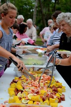 Low Country Boil buffet