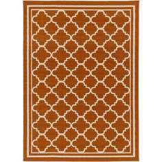 Marina Outdoor Rug in Burnt Orange & Khaki design by Surya ($30) ❤ liked on Polyvore featuring home, rugs, outdoors rugs, surya, outdoor rugs, outdoor patio rugs and outdoor area rugs