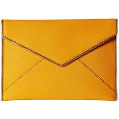 Rebecca Minkoff Leo Clutch (Saffron) (1.296.040 IDR) ❤ liked on Polyvore featuring bags, handbags, clutches, rebecca minkoff clutches, rebecca minkoff purse, yellow handbag, rebecca minkoff handbags and yellow purse
