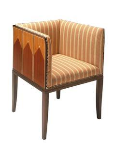 Eliel Saarinen Saarisen kodin intarsia nojatuoli