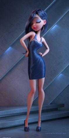 3D Cartoon Illustrations - Lights On by Carlos Ortega Elizalde