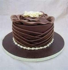 lovely pleated cake