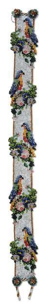 Bandeau Perles multicolores tubulaires Vers 1910-1915 H_17 cm L_171 cm Provenance: - Ancienne collection Jeanne Lanvin.