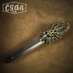 美式纯铜钥匙头 印第安骷髅头摩托车钥匙胚柄 改装复古黄铜个性-淘宝网