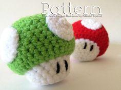 Crochet Pattern - Super Mario Inspired Amigurumi Mushroom - by Polkadot Squirrel, $4.50 on Etsy