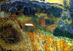 Cottages at Cannet / Pierre Bonnard - 1933