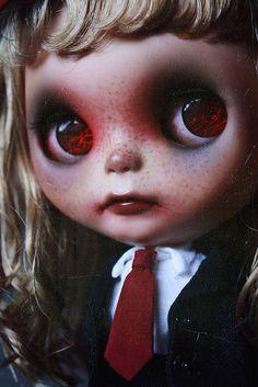 OOAK Custom Blythe doll ~ Elsinore Little Dead Schoolgirl