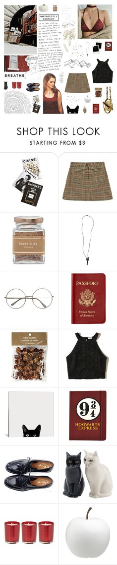 """""""H E R M I O N E"""" by gintare-13 ❤ liked on Polyvore featuring Assouline Publishing, Forever 21, The Giving Keys, Passport, Pier 1 Imports, Hollister Co., Emma Watson and CB2"""