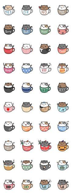 cafe nyan - LINE Stickers des créateurs: