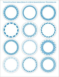 Our popular 2.5″ round Vintage-Style Round Labels Series 1 for designers and crafters were so popular that Cathe Holden designed a second series. This series comes to you as one PDF file with…