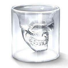 Shot Glass Skull Head Cup Crystal