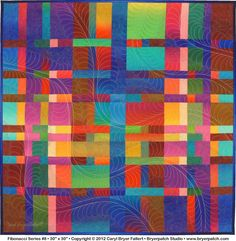 Caryl Bryer Fallert does such fabulous colors and quilting.  Love this