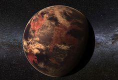 A warm, earthlike planet orbiting a red dwarf star.