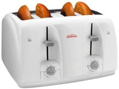 Sunbeam 3823-100 4-Slice Wide Slot Toaster, White ** More info could be found at the image url.