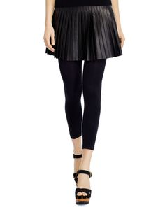 Pleated Lambskin Miniskirt - Polo Ralph Lauren Short Skirts - RalphLauren.com
