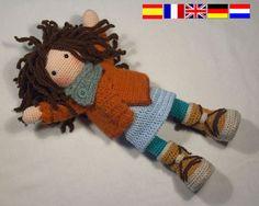 Crochet pattern for doll MONJA Deutsch English Français