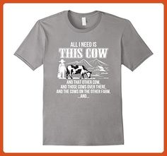 Mens All I Need Is This Cow And Cows Other Farm Farmer Cow Shirt 2XL Slate - Animal shirts (*Partner-Link)
