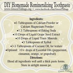 DIY Homemade Remineralizing Toothpaste