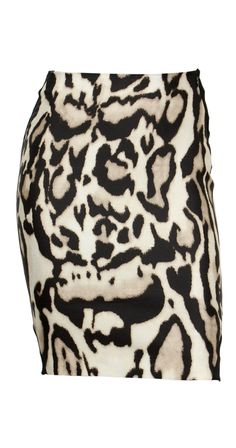 Work Diane von Furstenberg's love for animal prints into your fall wardrobe this season with the Mae Mikado pencil skirt. The striking leopard print in a silk wool combination is contrasted with black panels for a striking figure-slimming hourglass silhouette.
