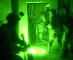 Fotografia Visión Nocturna Soldado Estadounidense en misión en Irak