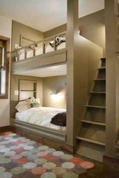 hochbetten erwachsene einraumwohnung spiegelwand wohnzimmer, Hause ideen