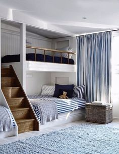 Youngsters Bedroom Furnishings – Bunk Beds for Kids Kids Bedroom Designs, Bunk Bed Designs, Room Design Bedroom, Room Ideas Bedroom, Home Room Design, Home Interior Design, Bedroom Decor, Bedroom Boys, Bedroom Colors