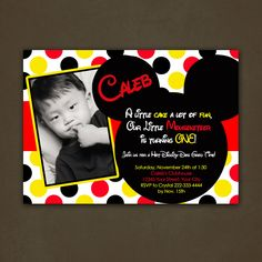 Printable Mickey Mouse Birthday Party Invitations. $12.00, via Etsy.