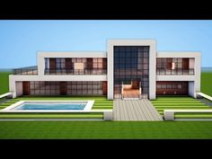 Minecraft How to build a modern house 11 Minecraft Stream