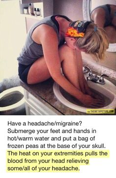 Fastest way to cure a headache... - The Meta Picture baths, headache relief, cure a headache, remember this, beds, bathrooms, headache remedies, beauti, bags