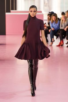 """Christian Dior boots: """"The runway shoes at Dior were some of the most memorable shoes from Paris Fashion Week, and these thigh-high boots in black patent leather are definitely amongst the most desirable shoes of the season."""" Photo: Imaxtree"""